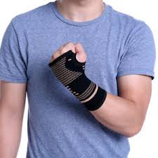 Details About Copper Infused Wrist Support Hand Palm Brace Compression Glove Arthritis Sleeve