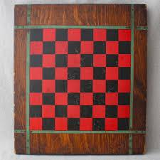details about antique trompe loeil painted primitive folk art wooden game board checkers chess