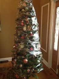 Black And Silver Christmas Tree  Christmas Trees  Pinterest Cat Themed Christmas Tree