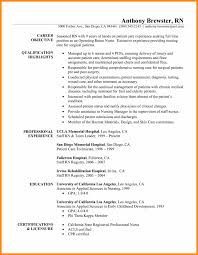 Cna Resume Summary Examples Professional Cna Resume Template Examples No Experience Summary Work 30