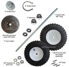 home built go kart plans awesome live axle kit plete 38 axle gopowersports of home