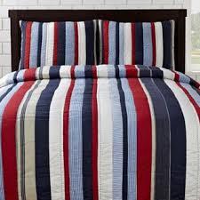 Cameron Red/ Blue Striped 3-piece Quilt Set - Free Shipping Today ... & Cameron Red/ Blue Striped 3-piece Quilt Set - Free Shipping Today -  Overstock.com - 13310616 Adamdwight.com