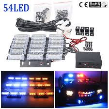 Car Emergency Warning Lights Details About Amber White Strobe 54 Led Car Emergency Warning Lights For Deck Dash Truck Grill