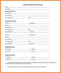emergency contact template emergency contact form template employee emergency contact form