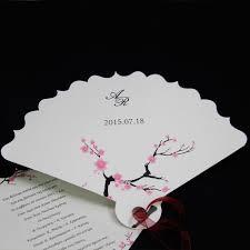 2015 Diy Laser Cut Elegant Fan Wedding Invitation Cards With Free