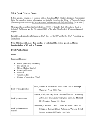 Citation Guide Mlapdf Academic Publishing Citation