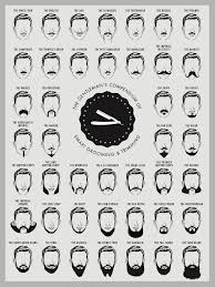 Beard And Mustache Print Beard Chart Beard Chart Art Print
