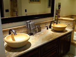 Contemporary Master Bathroom With Builtin Bookshelf  Travertine - Contemporary master bathrooms