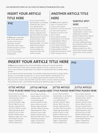 Microsoft Word Newspaper Template Best Photos Of Second Page Blank Newspaper Template
