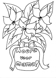 Kleurennu Boeket Voor Mama Kleurplaten Regarding Kleurplaat