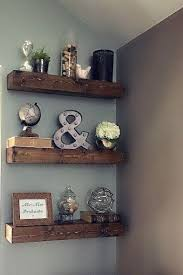 living room floating wall shelves