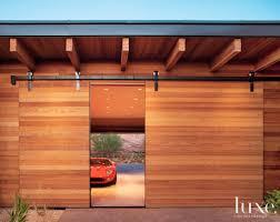garage barn doorsSliding barnstyle cedar door for an Arizona garage doors