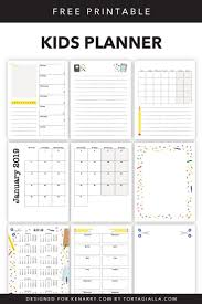 Planner Printables For Students Kids Planner Printables Free Calendar Pages Ideas For The