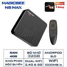 Android Tivi Box Magicsee N5 Max phiên bản 2020 - Ram 4GB, Rom 32Gb, Android  9.0 ( Có Bản ATV) - Điều khiển giọng nói - Đầu thu kỹ thuật số