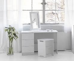 white modern vanity table
