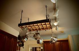 low ceiling hanging pot rack