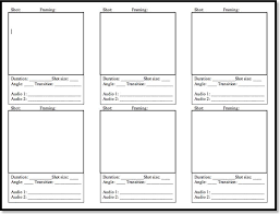 Sample Video Storyboard Template. Free Storyboard Template Download ...