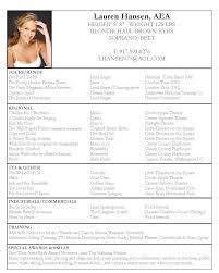 Good Resume Examples For Jobs Acting Resume Sample Lauren Hansen