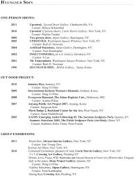 Artist Resumes Effective Artist Resume Sample With Work History And Education 16