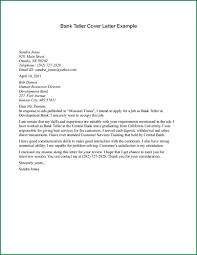 Cozy Inspiration Cover Letter For Bank Teller   Sample Of