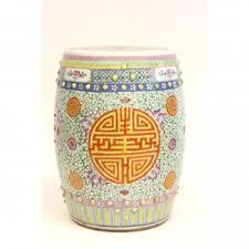 chinese garden stool. Small Of Smashing Chinese Porcelain Handpainted Garden Stool Orange