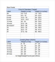 Height Weight Length Chart Height Weight Pants Size Chart 2019