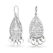 925 sterling silver bohemian filigree chandelier earrings for attractive household chandelier earrings silver prepare