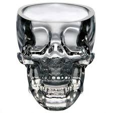 crystal skull whiskey glass cup drinking ware bar transpa