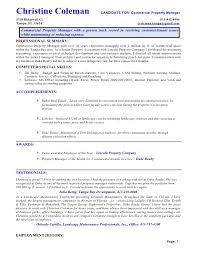 Resume Property Manager Cool Sample Resume Property Manager Free