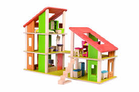 plan toys chalet dollhouse with furniture furniture  amazon canada
