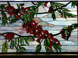 stained glass flamboyan branch