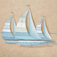 blue sailboat wall art