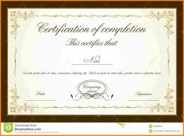 Sample Certificate Of Service Template
