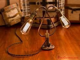 dual edison bulb table lamp