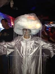 coolest homemade costume idea rain cloud with heat lightning and sounds of thunder