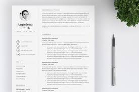 Resume Template Layout Cv Resume Templates Creative Market