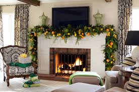feasible themed fireplace mantel decorating ideas mantel decor inspiration with green garland also