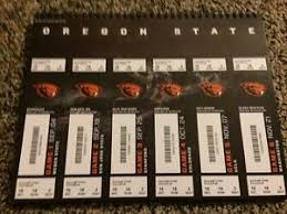 Details About 2015 Oregon State Beavers College Football Season Ticket Stub Strip Sheet Set