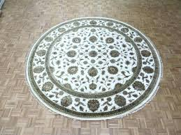 oriental rug galaxy round rugs x hand knotted ivory with silk best ohio