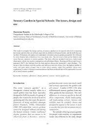 Pdf Sensory Garden In Special Schools The Issues Design And Use