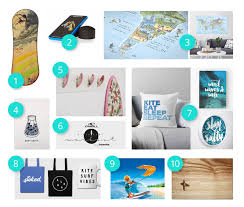 for the landlocked kiters who want to have that surfer spirit at home present ideas