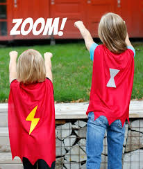 zoom away with superhero capes to make for kids