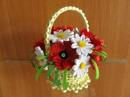 Paper Quilling Flower Baskets Look What Ive Made Projects Papercrafts Poppies And Daisies