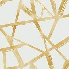 tribeca geometric lines gold wallpaper