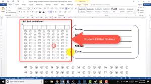 How To Design Create Multiple Choice Test Answer Sheet In Ms Word