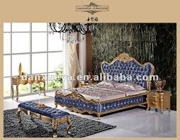 Best Quality In China Hot Sale Gold Gilded Bule High Head Board