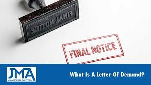 What Is A Letter Of Demand Jma Credit Control Jma Credit Control