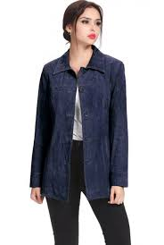 bgsd women s anna missy plus size suede leather car coat navy vq10107 best choice