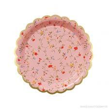 Pink Flower Paper Plates 20 Pcs Floral Paper Plates Pink Disposable Party Paper Plates