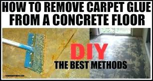 removing tile glue from concrete floor concrete floor without breaking removing staining carpet tile glue first